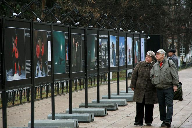 Полярная фотовыставка в подмосковном Дмитрове.